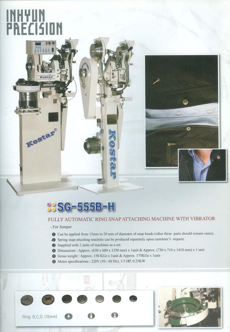 máy đóng nút tự động Kostar SG-555B-H