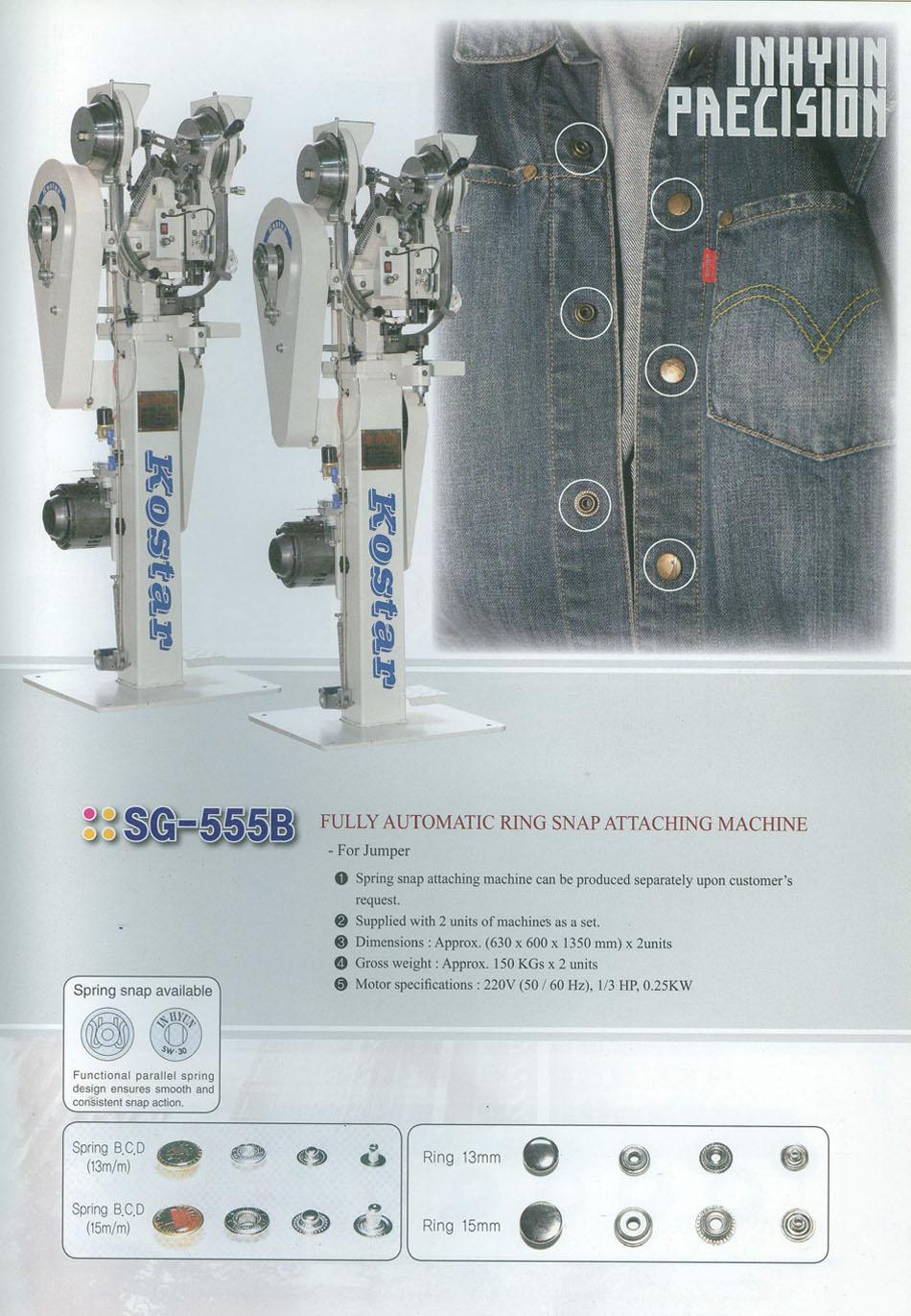 máy đóng nút tự động kostar sg-555b